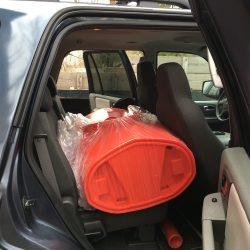 Loading a Kayak into car
