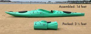 Pakayak packable kayak 14 feet to 3.5 feet