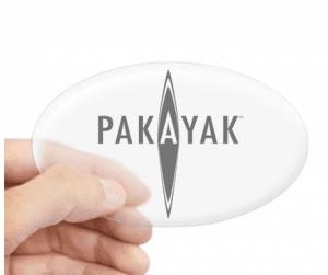 Pakayak clear sticker