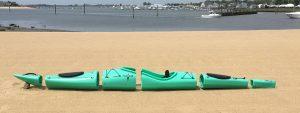 Pakayak apart, packable kayak