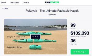 Pakayak reaches $100K in 4 days on Kickstarter