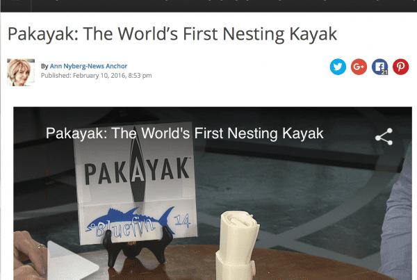 WTNH Ann Nyberg Pakayak Interview