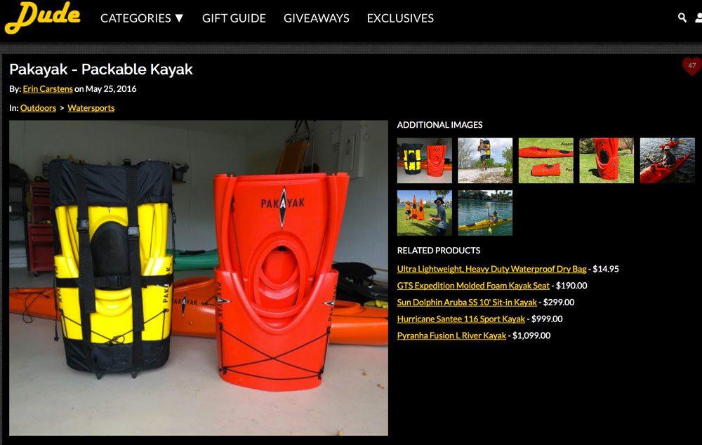 DudeIWantThat.com: Pakayak – Packable Kayak
