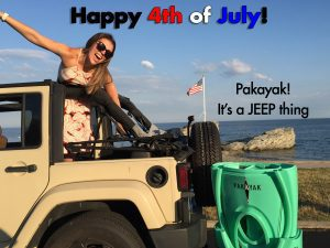 4th of July Pakayak in Jeep