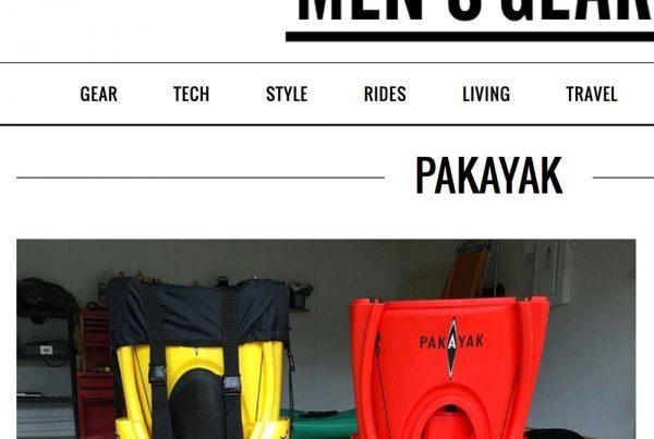 Pakayak article on Men's Gear.com