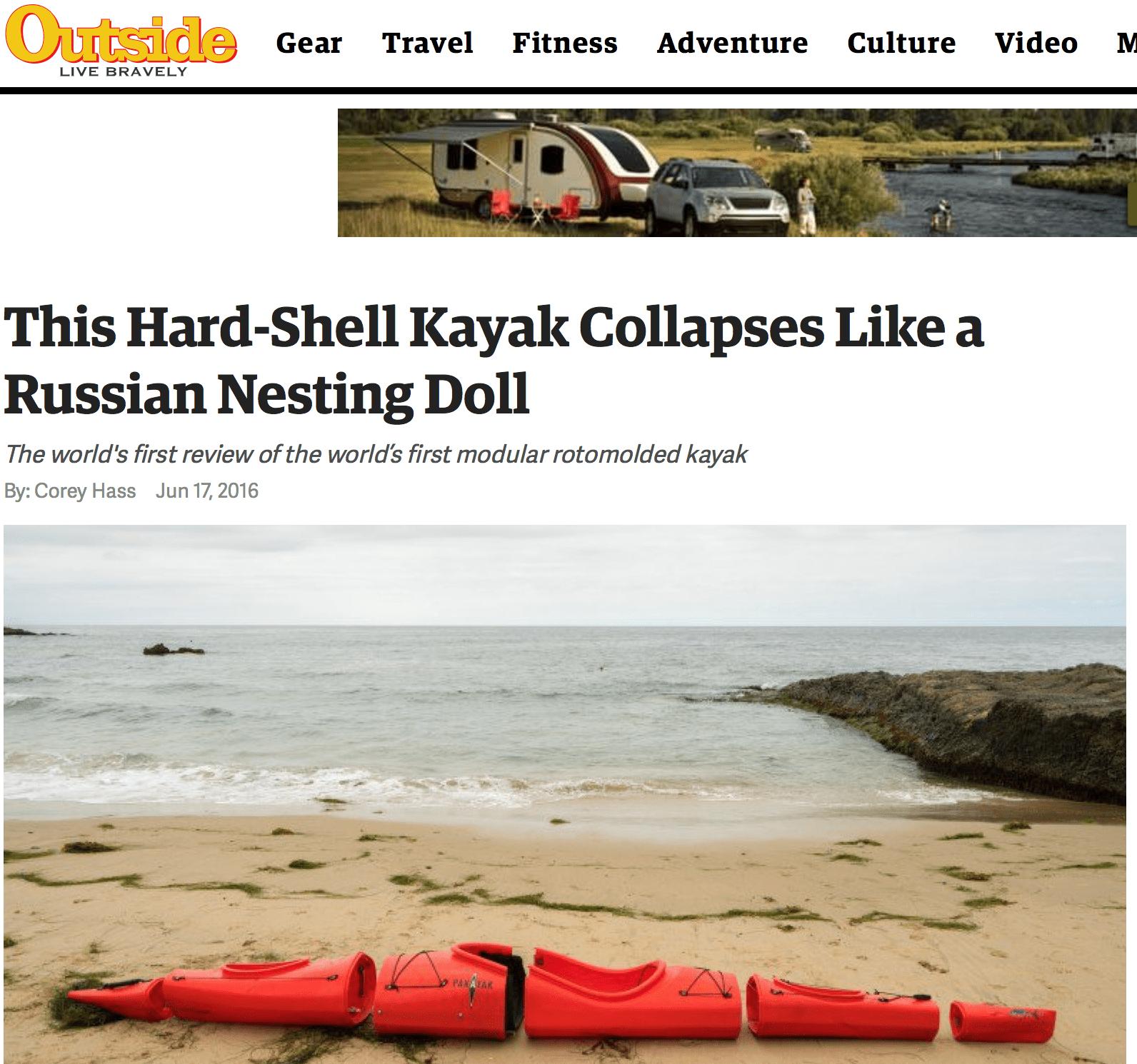 Pakayak review on Outside Magazine