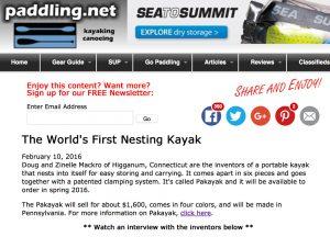 Pakayak article in Paddling.net