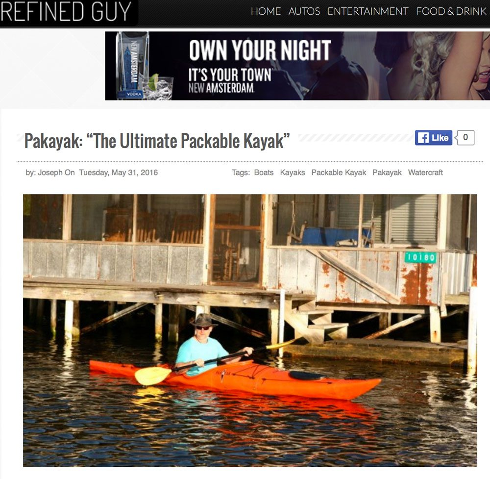 "RefinedGuy.com: Pakayak: ""The Ultimate Packable Kayak"""