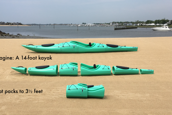 imagine: a 14-foot kayak that packs to 3.5 feet
