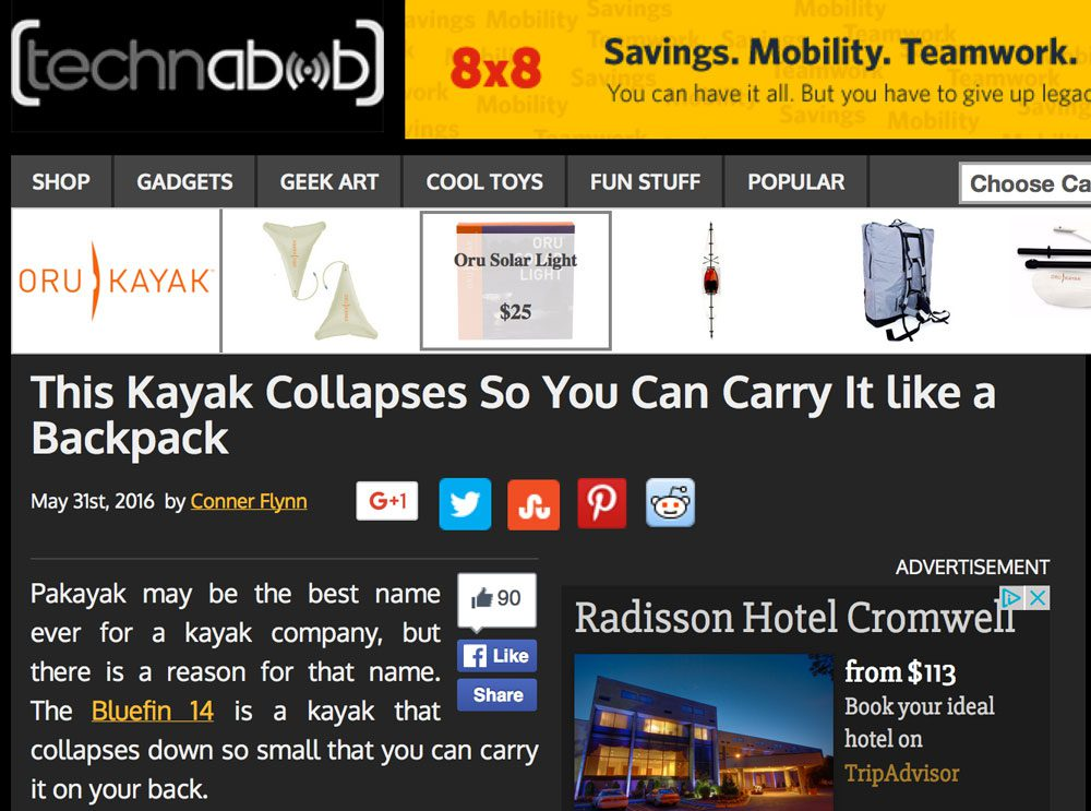 technabob.com: This Kayak Collapses So You Can Carry It like a Backpack