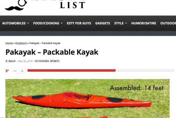 Pakayak article on thebaumlist.com