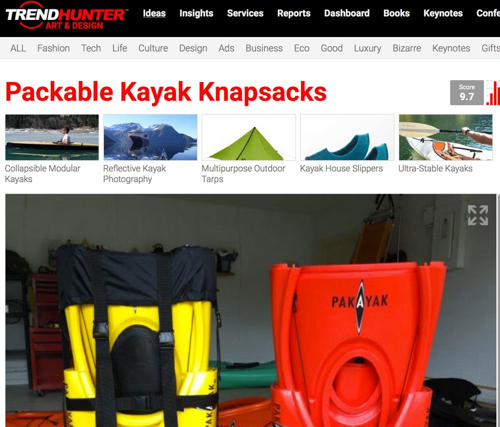 TrendHunter.com: The Pakayak is a Collapsible Boat Designed for Easy Outdoor Transporting