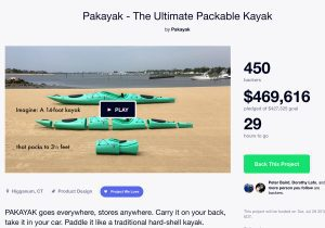 Pakayak over 100% funded on Kickstarter