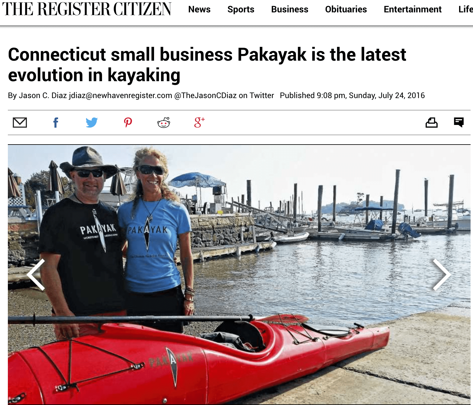 Register Citizen: Connecticut small business Pakayak is the latest evolution in kayaking