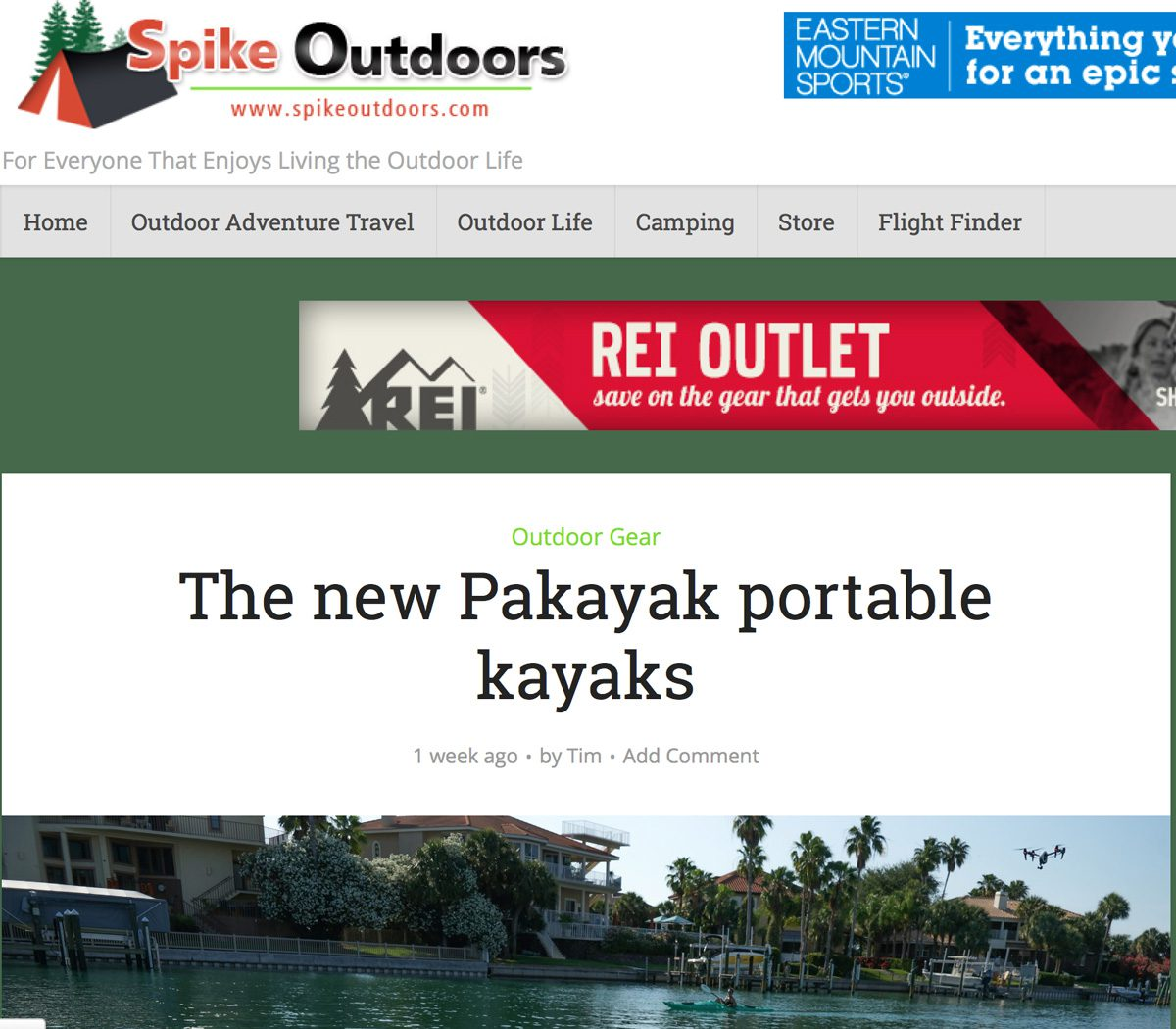 Spike Outdoors: The new Pakayak portable kayaks