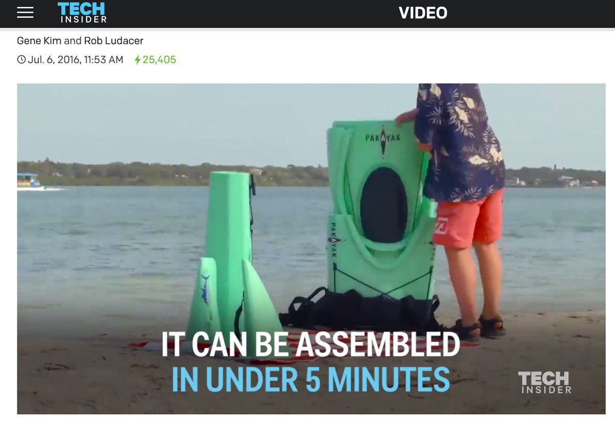 Tech Insider: Someone invented a kayak that fits in a backpack
