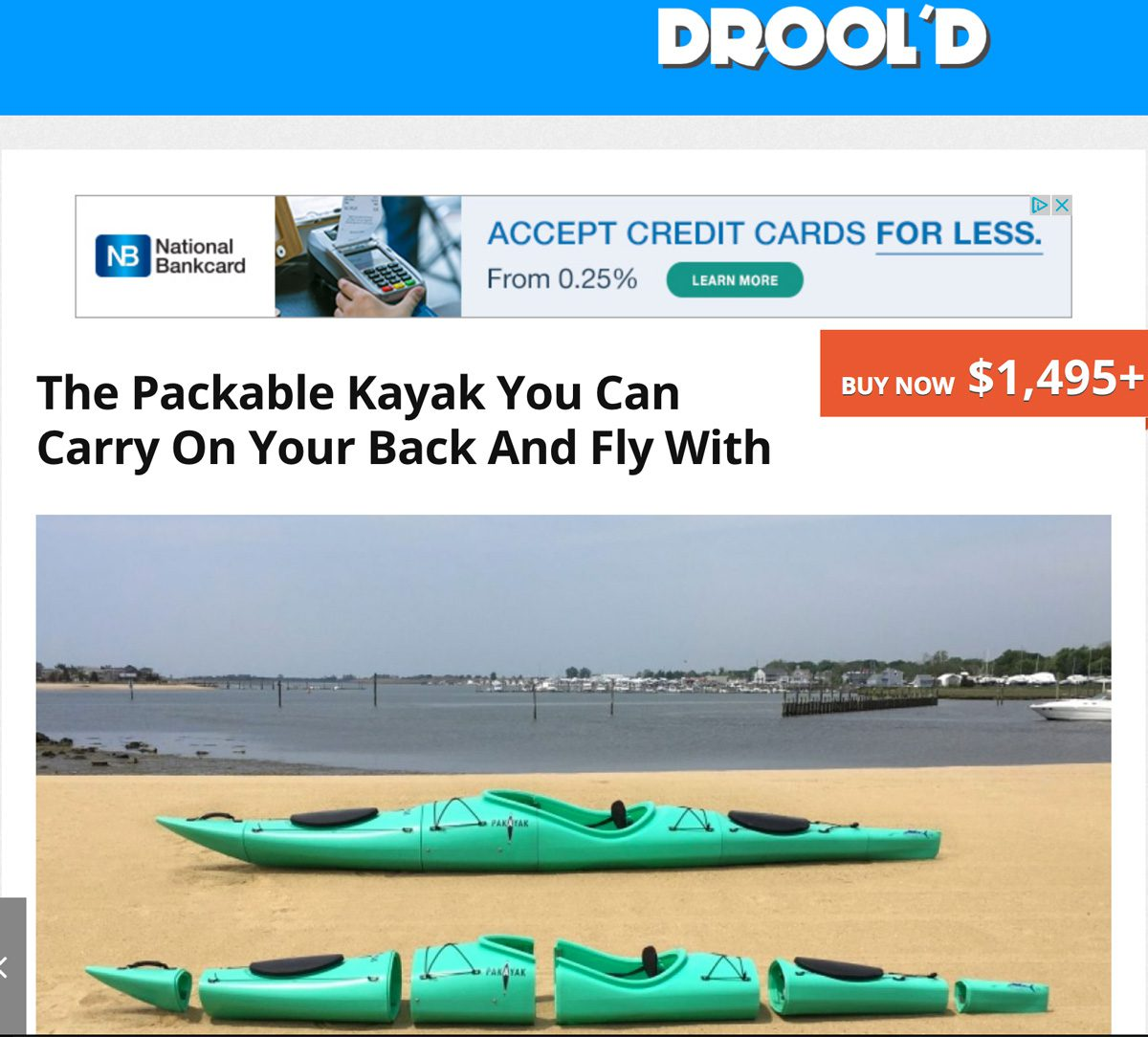 Drool'd: The Packable Kayak You Can Carry On Your Back And Fly With
