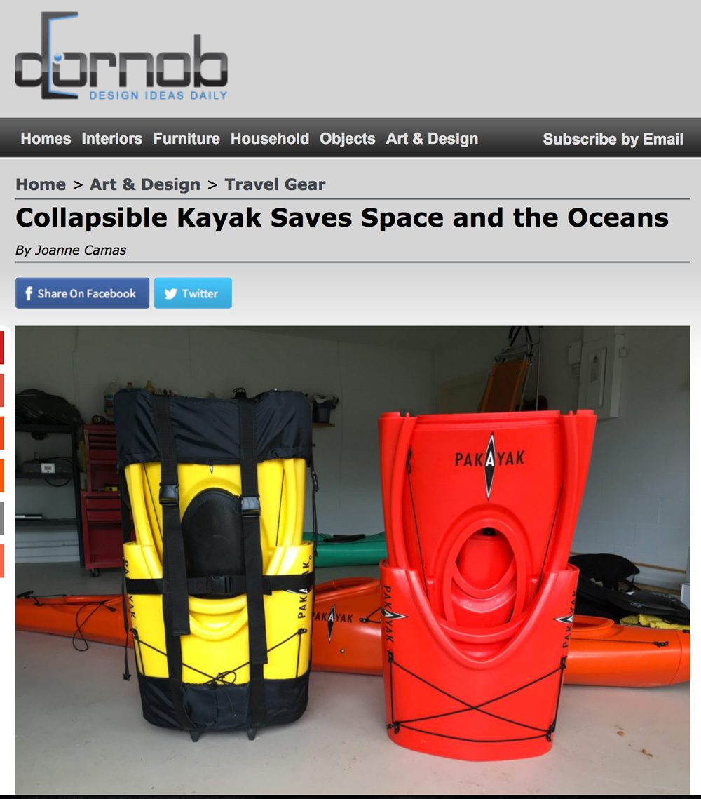 Dornob: Collapsible Kayak Saves Space and the Oceans