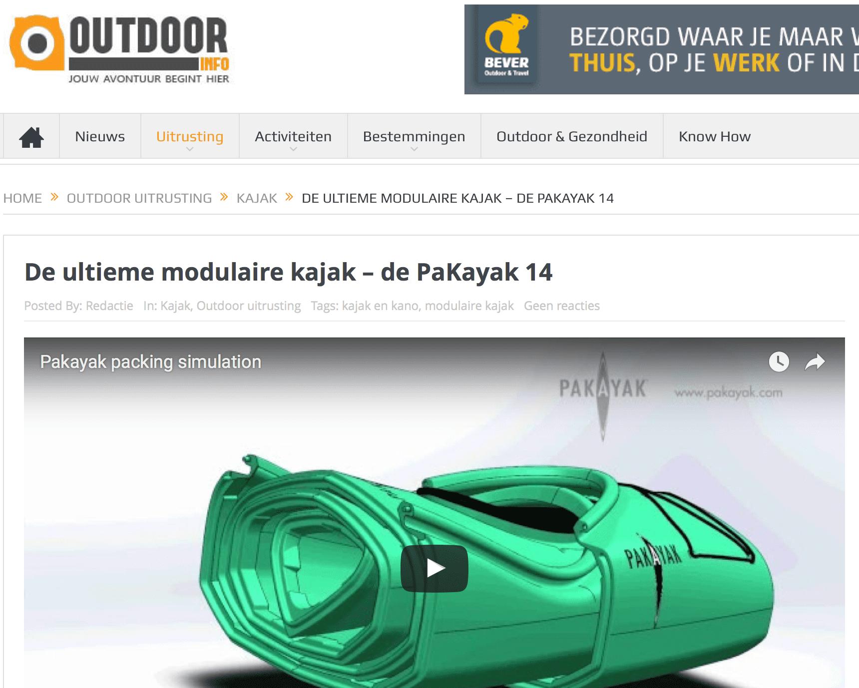 Outdoorinfo.nl: De ultieme modulaire kajak – de PaKayak 14