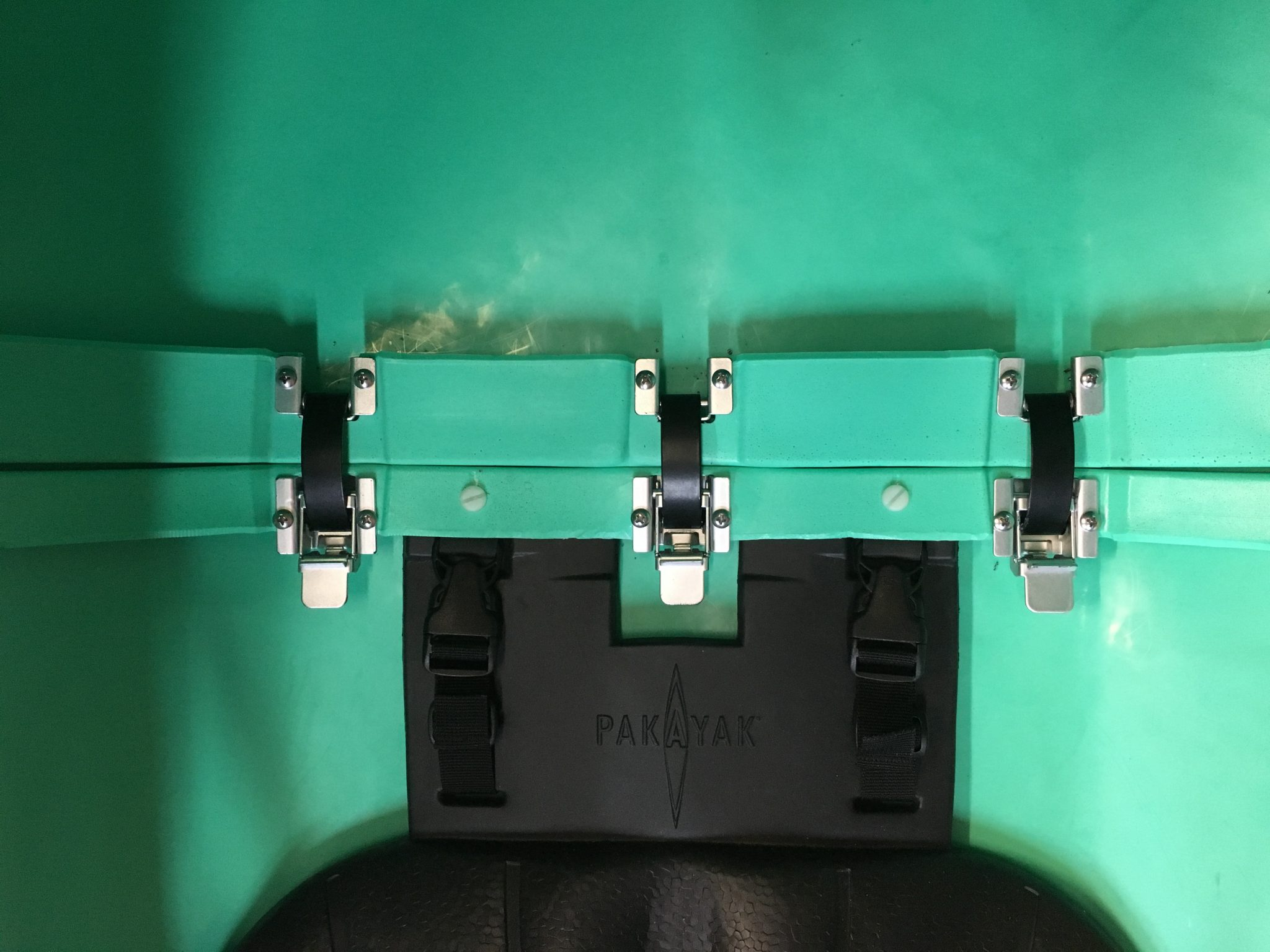 Mockup clamps in the cockpit