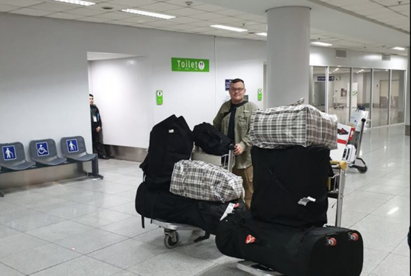arriving in Manila