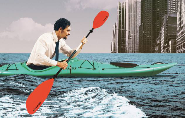 WSJ: Skip the Traffic, Paddle to the Office Instead