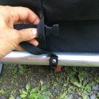 thread buckle ends through loops
