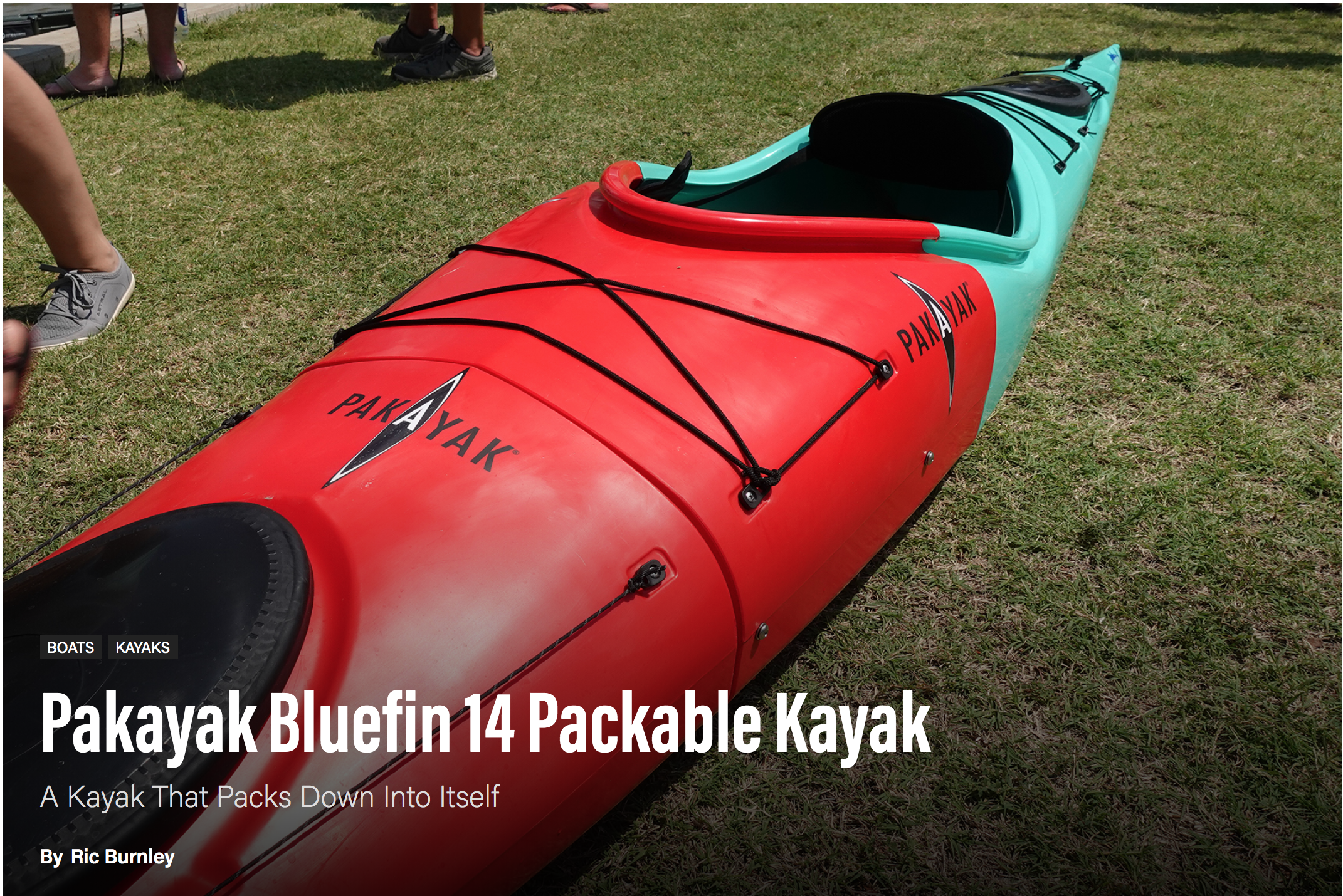 Paddling Magazine: Pakayak Bluefin 14 Packable Kayak – A Kayak That Packs Down Into Itself