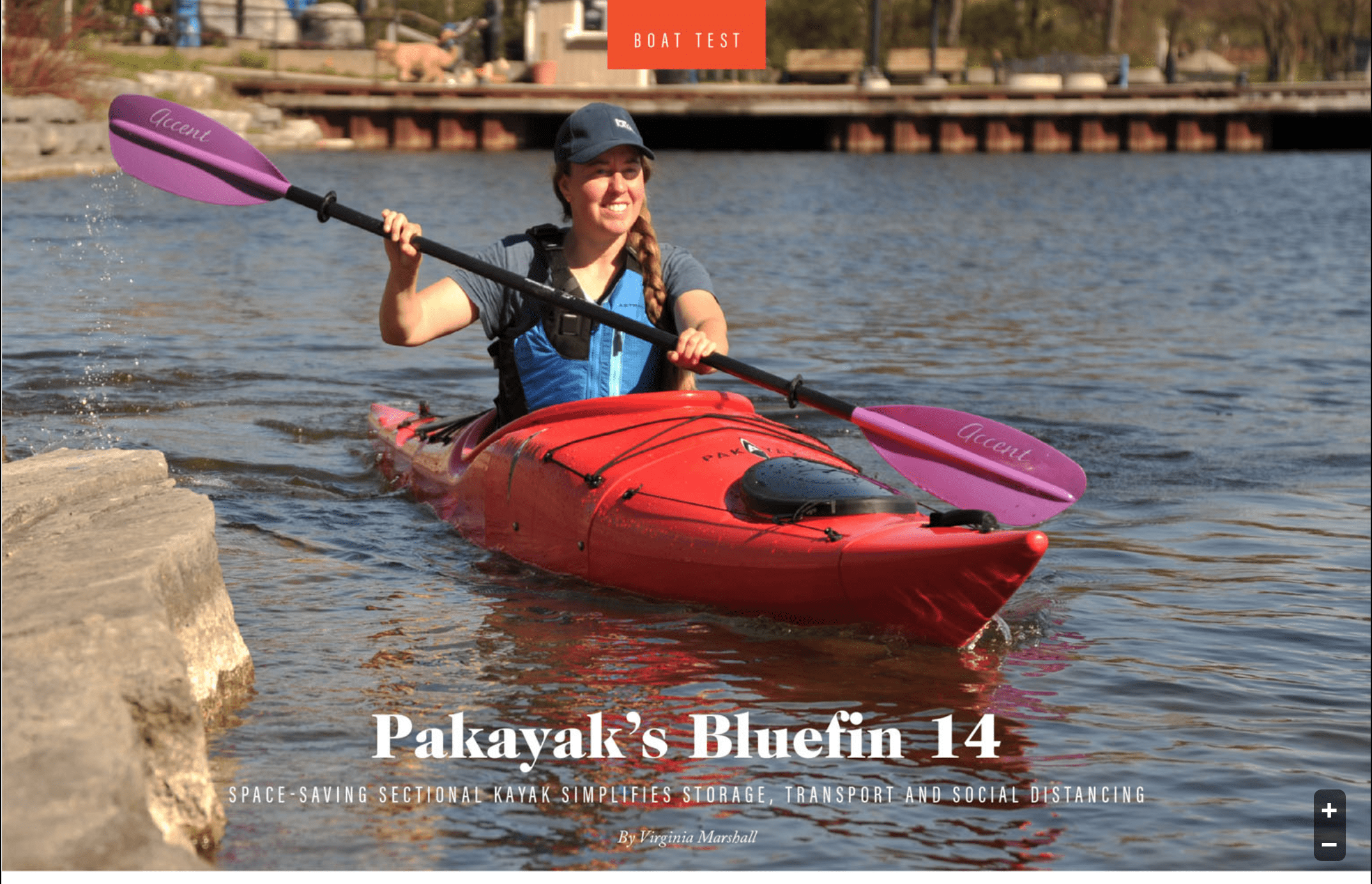 Paddling Magazine: Space-saving sectional kayak simplifies storage, transport and social distancing